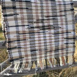 handwoven neutrals rag rug by shepherdssongcreations.com