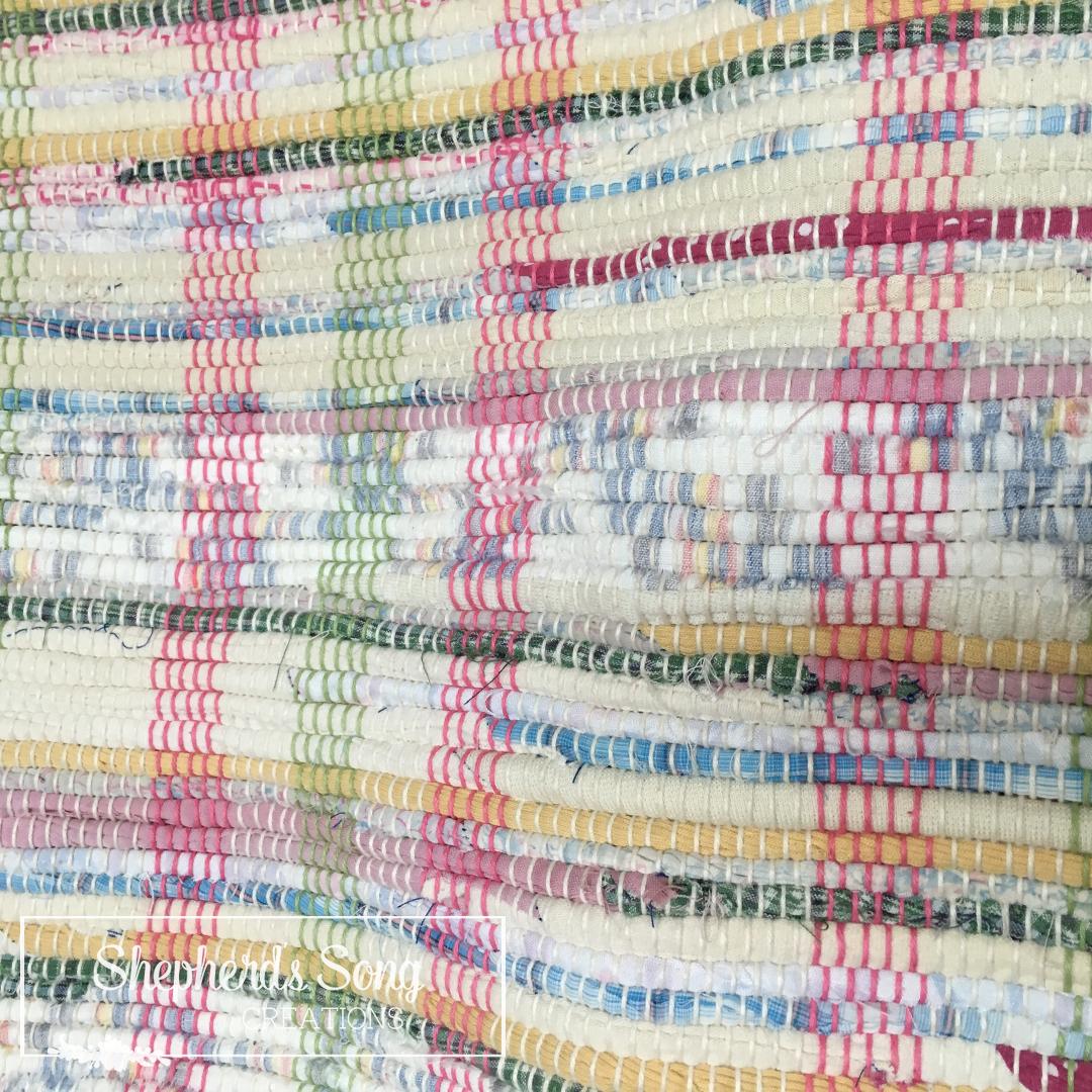 Button Flower Rag Rug